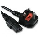 კაბელი  Power cable PC-186, 10A (0.75mm²)  2.0m
